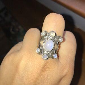 Vintage Rainbow Moonstone Ring